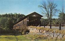cou100764 - Covered Bridge Vintage Postcard