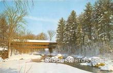 cou100768 - Covered Bridge Vintage Postcard