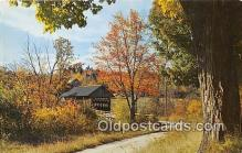 cou100773 - Covered Bridge Vintage Postcard