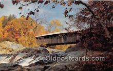 cou100774 - Covered Bridge Vintage Postcard