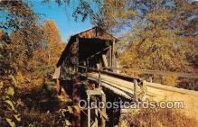 cou100775 - Covered Bridge Vintage Postcard