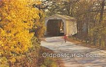 cou100776 - Covered Bridge Vintage Postcard