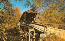 cou100777 - Covered Bridge Vintage Postcard