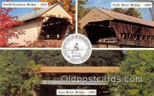 cou100782 - Covered Bridge Vintage Postcard