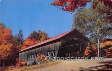 cou100784 - Covered Bridge Vintage Postcard