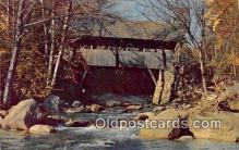 cou100785 - Covered Bridge Vintage Postcard