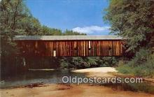 cou100786 - Covered Bridge Vintage Postcard