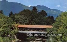 cou100787 - Covered Bridge Vintage Postcard