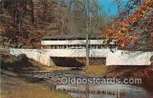 cou100790 - Covered Bridge Vintage Postcard