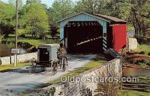 cou100791 - Covered Bridge Vintage Postcard