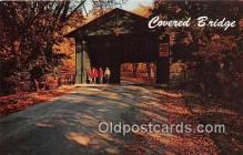 cou100792 - Covered Bridge Vintage Postcard