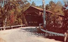 cou100795 - Covered Bridge Vintage Postcard