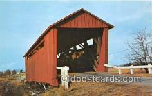cou100796 - Covered Bridge Vintage Postcard