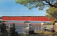 cou100797 - Covered Bridge Vintage Postcard
