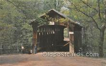 cou100798 - Covered Bridge Vintage Postcard