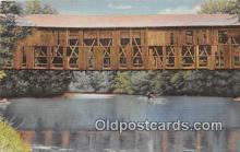 cou100801 - Covered Bridge Vintage Postcard