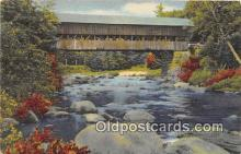 cou100802 - Covered Bridge Vintage Postcard