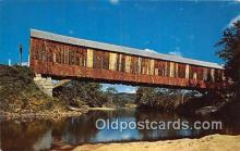 cou100803 - Covered Bridge Vintage Postcard