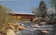 cou100805 - Covered Bridge Vintage Postcard