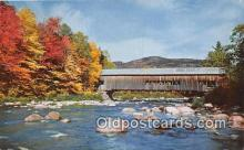 cou100806 - Covered Bridge Vintage Postcard