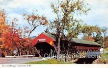 cou100807 - Covered Bridge Vintage Postcard