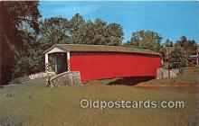 cou100811 - Covered Bridge Vintage Postcard