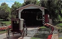 cou100812 - Covered Bridge Vintage Postcard