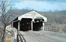 cou100814 - Covered Bridge Vintage Postcard