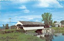 cou100815 - Covered Bridge Vintage Postcard