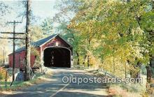 cou100818 - Covered Bridge Vintage Postcard