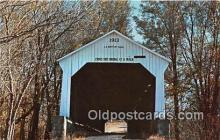 cou100819 - Covered Bridge Vintage Postcard