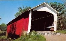 cou100821 - Covered Bridge Vintage Postcard