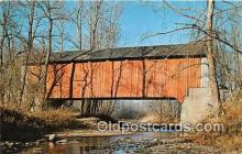 cou100823 - Covered Bridge Vintage Postcard