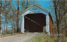 cou100824 - Covered Bridge Vintage Postcard
