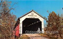 cou100825 - Covered Bridge Vintage Postcard