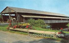 cou100826 - Covered Bridge Vintage Postcard