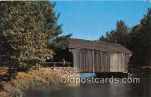 cou100827 - Covered Bridge Vintage Postcard