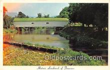 cou100828 - Covered Bridge Vintage Postcard