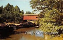 cou100830 - Covered Bridge Vintage Postcard