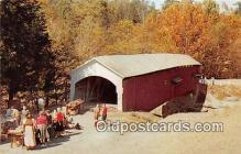 cou100831 - Covered Bridge Vintage Postcard