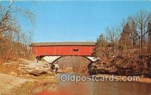 cou100832 - Covered Bridge Vintage Postcard