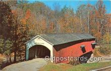 cou100833 - Covered Bridge Vintage Postcard