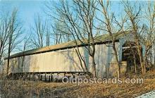 cou100835 - Covered Bridge Vintage Postcard