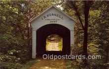 cou100836 - Covered Bridge Vintage Postcard