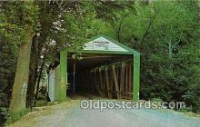 cou100838 - Covered Bridge Vintage Postcard