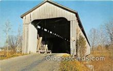 cou100839 - Covered Bridge Vintage Postcard