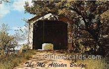 cou100842 - Covered Bridge Vintage Postcard