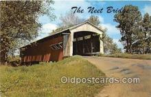 cou100843 - Covered Bridge Vintage Postcard