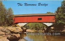 cou100844 - Covered Bridge Vintage Postcard