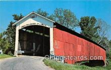 cou100848 - Covered Bridge Vintage Postcard